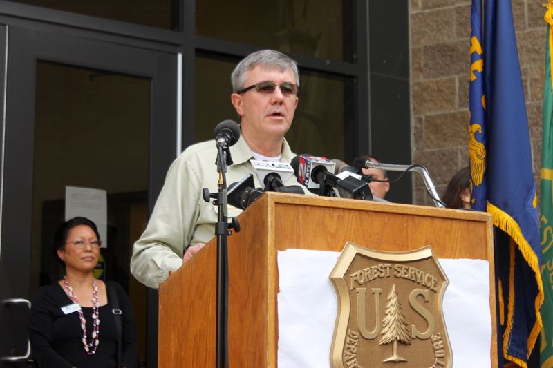 TRIBUNE PHOTO: LYNDSEY HEWITT - Forest Service Chief Tony Tooke says he's worried about firefighter fatigue.