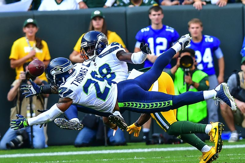 PHOTO BY MICHAEL WORKMAN - Safety Earl Thomas returned from a leg injury and was among the bright spots for the Seattle Seahawks in their NFL opener Sunday at Green Bay.