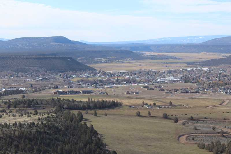 PHOTO COURTESY OF CITY OF PRINEVILLE - The IronHorse property purchased by the City of Prineville includes much of the Barnes Butte area, where the photo was taken of the community. Work is under way to determine what ways are best for the public to utilize the property.