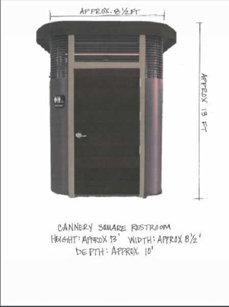 COURTESY CITY OF SHERWOOD - The new unisex bathroom is expected to be constructed at Cannery Square in October