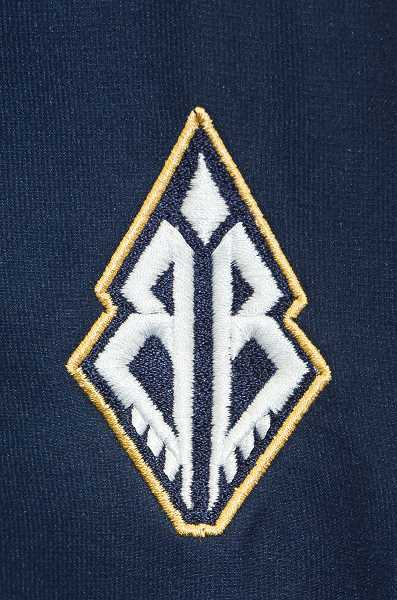 NEWS-TIMES PHOTO: CHRISTOPHER OERTELL - The new Braves logo features two captial Bs to symbolize Banks Braves in the shape of an arrowhead to represent the Confederated Tribes of Grand Ronde.