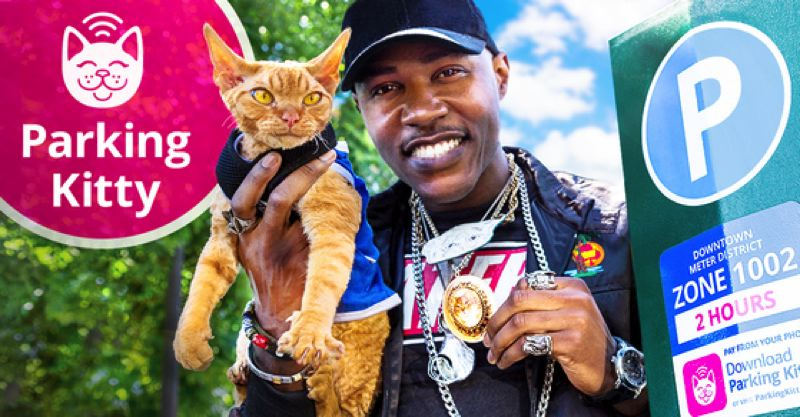 "COURTESY PHOTO: PBOT - Portland artist Moshow the Cat Rapper debuted a new rap and music video called ""Parking Kitty,"" after the city's new parking app."