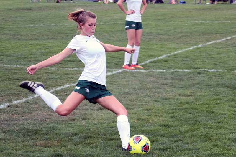 PHIL HAWKINS - The Huskies are seeing big contributions from their freshman class this year, such as defender Hailey Welch, who scored twice in the team's season-opener against Seaside.