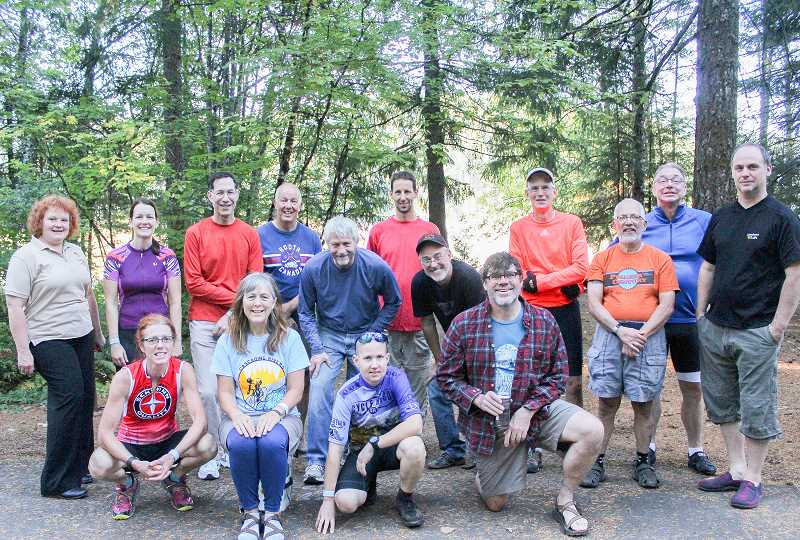 FILE PHOTO - This year's Cascading Rivers Bike Ride has been canceled because of low air quality and dry conditions on the Mt. Hood National Forest. Here, last years participants on the two day, 144 mile Killer Fang Ride take a break from their journey.