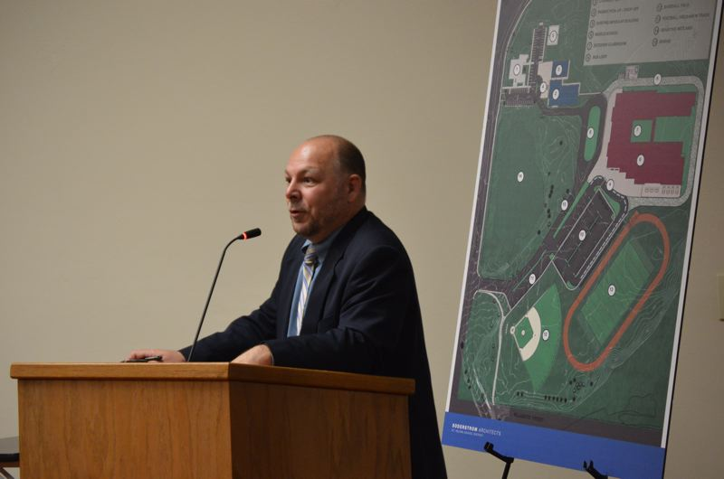 SPOTLIGHT PHOTO: NICOLE THILL - St. Helens School District Superintendent Scot Stockwell speaks during a St. Helens Planning Commission meeting on Tuesday, Sept. 12.