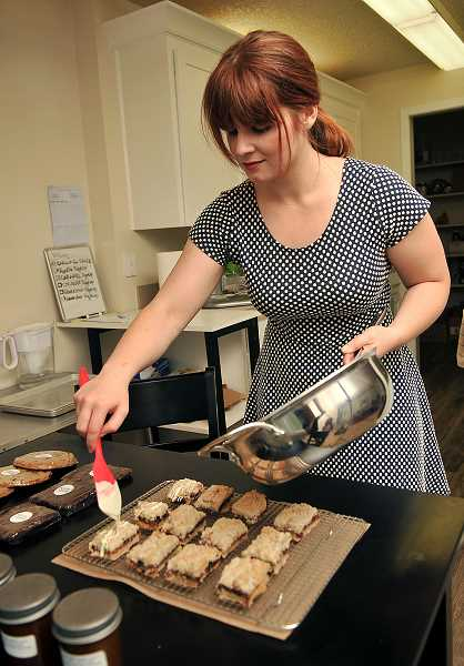 Susie Stewart has experimented with ingredients and methods to make her gluten free baked goods taste delicious. She bakes about 300 cookies or other items each day.
