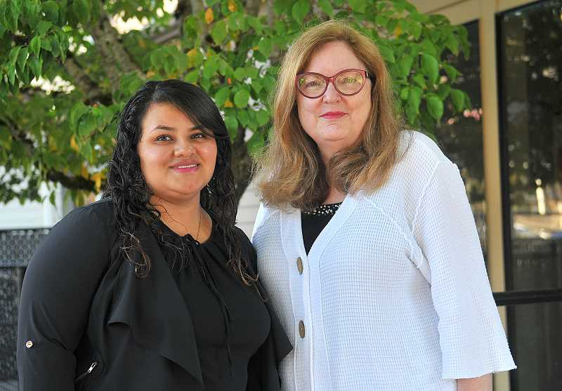 REVIEW PHOTO: VERN UYETAKE - Ingrid A. worked with Lake Oswego immigration lawyer Diane Grover (right) to apply for DACA status when she was 18. Since then, she has pursued a career in medicine.