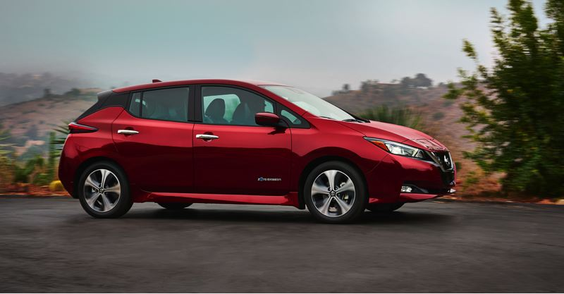 COURTESY NISSAN - The 2018 Nissan Leaf will be on sale early next year.