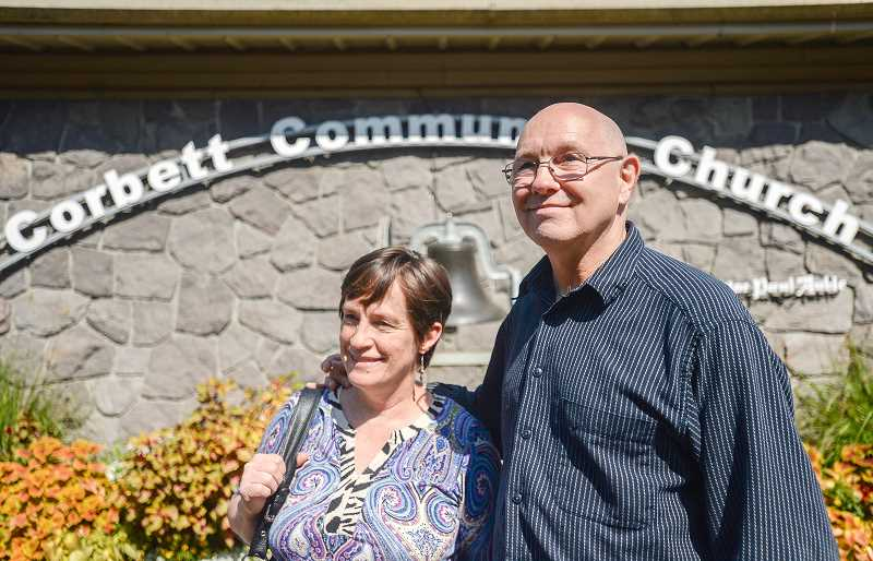 OUTLOOK PHOTO: JOSH KULLA - Marie and Dan Anderson live in Bridal Veil evacuated from their residence September 5 and stayed at the couples karate studio in Gresham before being connected with a place to stay. The couple was finally able to return home Friday.