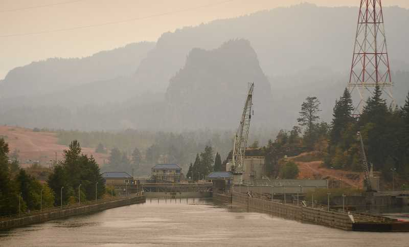 OUTLOOK PHOTO: JOSH KULLA - Officials lifted all Level 3 evacuation notices connected with the Eagle Creek Fire on Friday, including for Corbett, Bridal Veil, Warrendale, Bonneville, Cascade Locks and other locales.