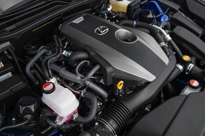COURTESY LEXUS - The turbocharged/intercooled 2.0-liter inline four cylinder engine in the 2017 Lexus RC 200t is a joy to drive.