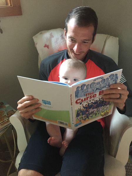 COURTESY: JEFF ATTINELLA - The birth of his daughter, Remy, inspired Portland Timbers goalkeeper Jeff Attinella to write books for young children.