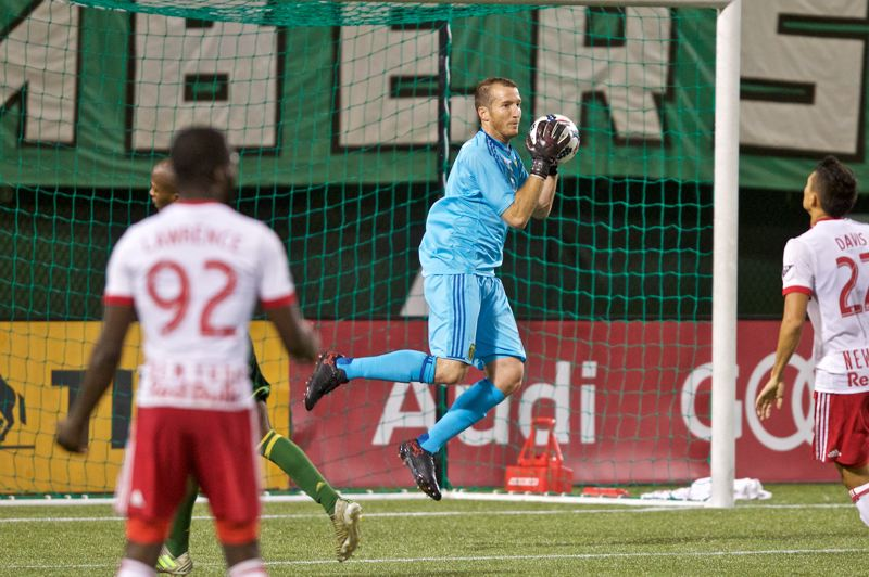 COURTESY: CRAIG MITCHELLDYER - Jeff Attinella's play in goal has helped the Portland Timbers strengthen their hold on a MLS playoff spot.