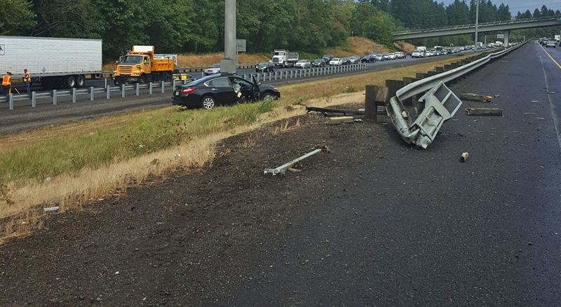PHOTO COURTESY OF OREGON STATE POLICE - A single-car incident on Monday afternoon took the life of Portland man Douglas Cansdale.