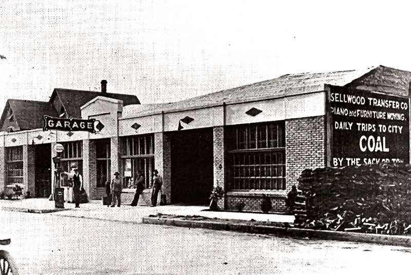 COURTESY OF SMILE HISTORY COMMITTEE - The Sellwood Transfer Company, established in 1905, was situated along the Umatilla Business District, and helped patrons to move furniture, baggage, and freight. They also provided excursions by auto or horse and wagon to Mt. Hood or down the Historic Columbia River Highway. The building today serves as a private storage facility.