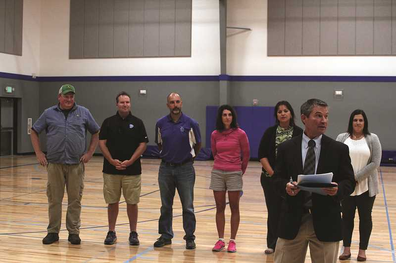 PHIL HAWKINS - St. Paul Superintendent Joe Wehrli thanked members of the bond advisory board, the school board and the community members who contributed to the $5 million bond passed in 2015 that allowed for the construction of the new auxiliary gym and the elementary school renovations.