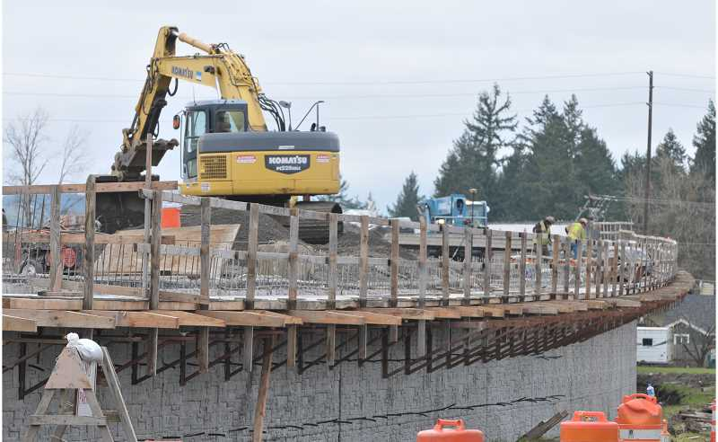 GARY ALLEN - The progress of construction on the Newberg-Dundee bypass will be apparent Saturday when 'Play on the Bypass' allows the citizenry to get a up-close look at the thoroughfare.
