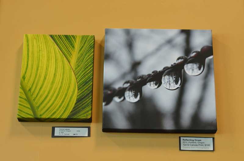 SPOKESMAN PHOTO: CLARA HOWELL - These are two canvas prints shown on display at Starbucks.