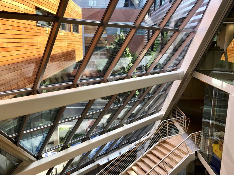 PHOTOS COURTESY: BRIAN LIBBY - The Karl Miller Center at Portland State University brings some much needed light-centered design to the institution.