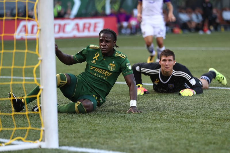 TRIBUNE PHOTO: JAIME VALDEZ - Darren Mattocks has emerged as a speedy threat at forward for the Portland Timbers this season.