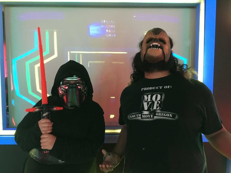 SUBMITTED PHOTO - Milwaukie youth involved in the Youth M.O.V.E. Oregon leadership program are pictured above at the Star Wars-themed Children's Mental Health Day event.