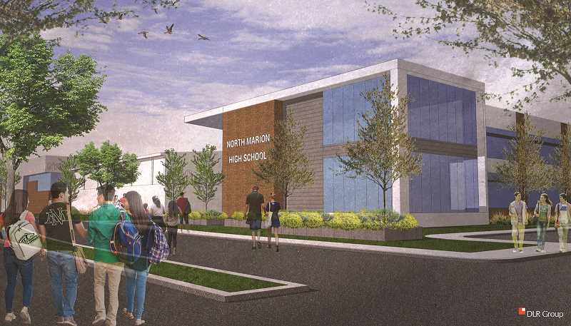 COURTESY PHOTO: DLR GROUP - A conceptual plan of the new North Marion High School academic wing should the school district's $42.2 million bond pass this November.
