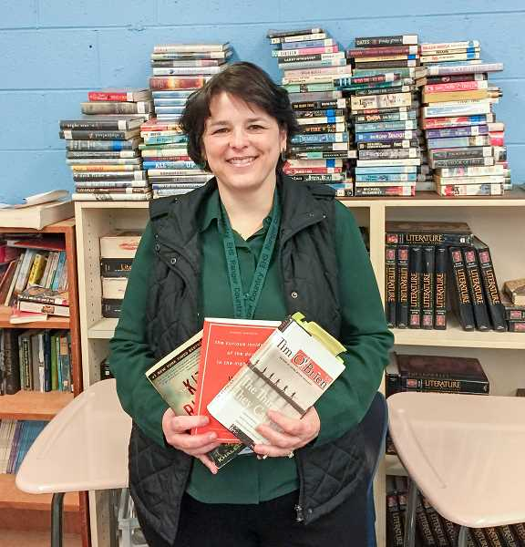 FILE PHOTO - Cindy Babikoff has been named Oregons teacher of the year by the American Legion. Babikoff teaches English at Estacada High School.