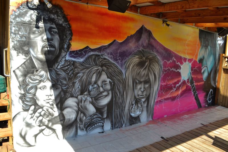 POST PHOTO: BRITTANY ALLEN - The theme of Gateway Pub's new mural was inspired by the owner's love for music.