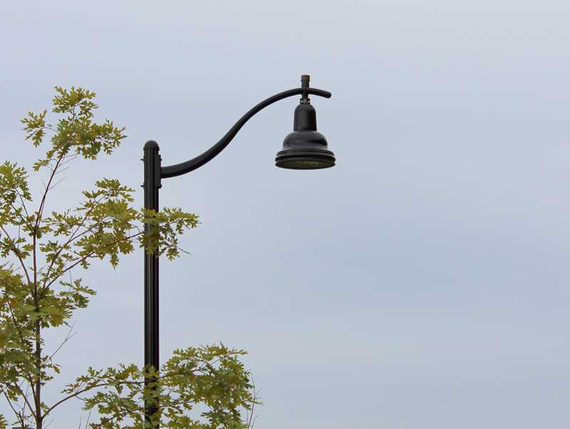 SPOKESMAN PHOTO: CLAIRE GREEN - One of the new LED styles of street lights that will be used throughout the city is the pendant light, which are used in sections of Villebois.