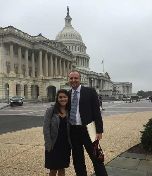 SUBMITTED PHOTO - Pastor Rick Russell with DACA student Wendi Ayala in Washington, D.C.