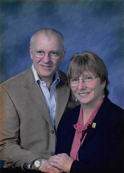 PHOTO COURTESY OF JNEANNE THEUS - Tom and Alice Gregoire pose for a recent portrait. The couple started a cross-country odyssey in 1954 that eventually brought them to Lake Oswego.