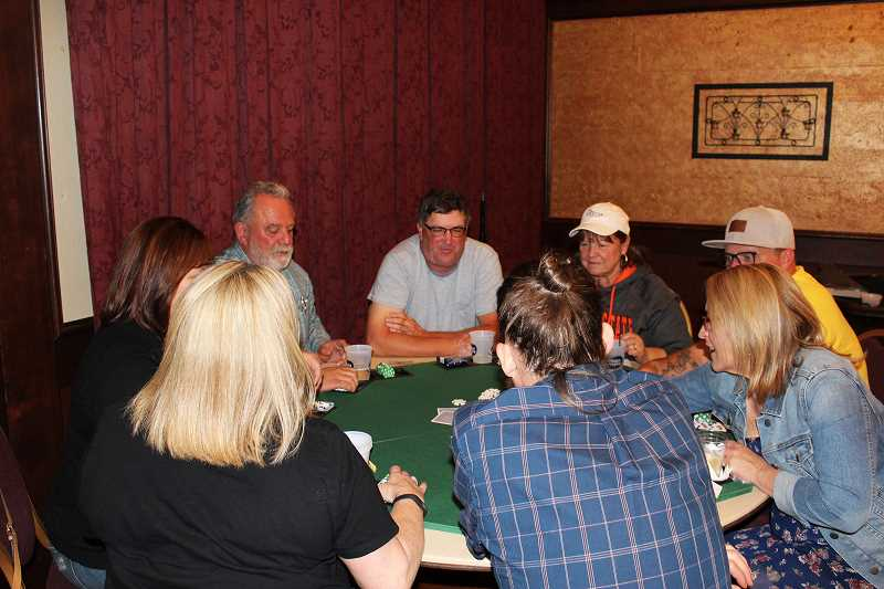 HERALD PHOTO: KRISTEN WOHLERS - Forty-three participants enjoyed the poker tournament at the 'All In' night Sept. 23.