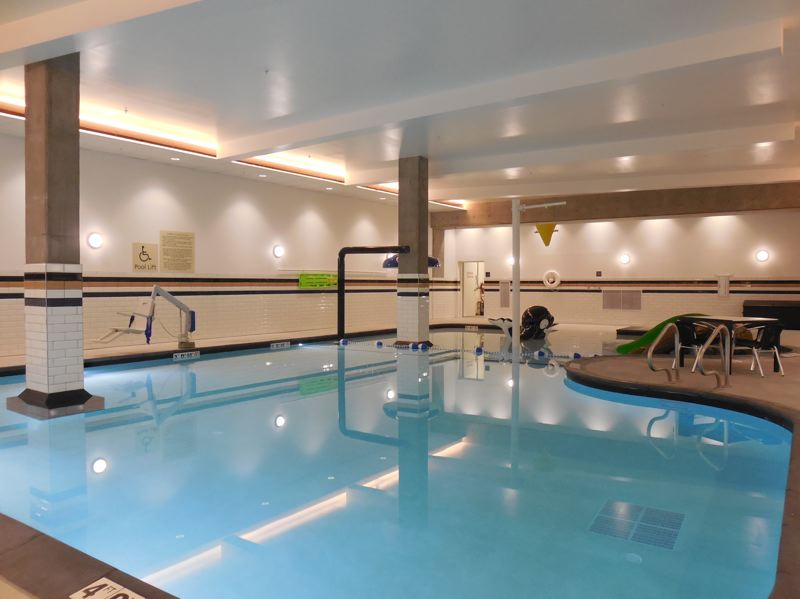 PAMPLIN MEDIA GROUP: JOSEPH GALLIVAN - Business in the front, party at the back: the new pool at the Hampton Inn Pearl. The hotel aims to attract fmailies and business people.