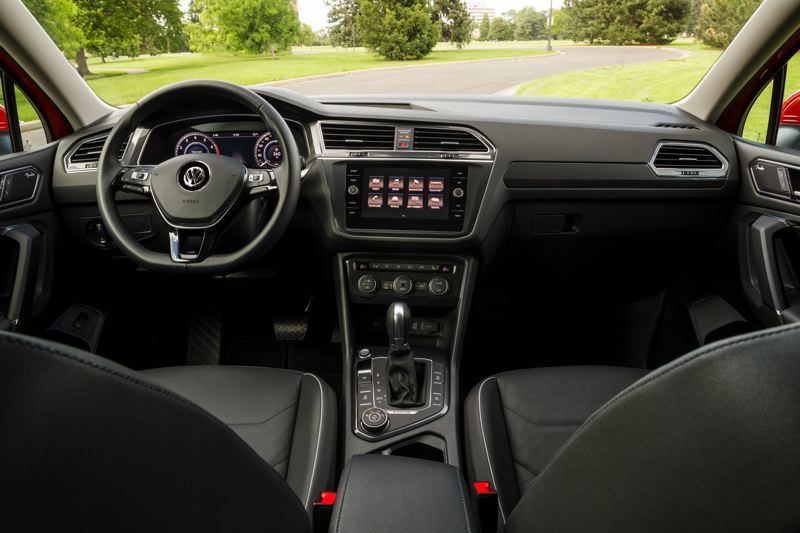 VOLKSWAGEN OF AMERICA - The interior of the 2018 VW Tiguan is much roomier than before, and the controls on the contemporary dash are easy to find and use.