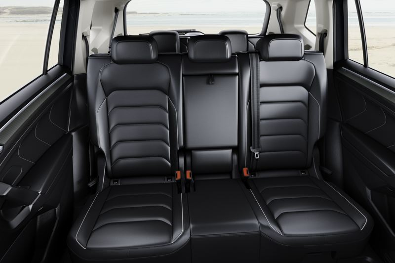 VOLKSWAGEN OF AMERICA - A third row of seats is now available in the 2018 VW Tiguan.