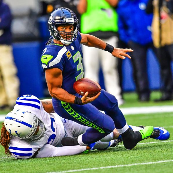 COURTESY: MICHAEL WORKMAN - Seattle quarterback Russell Wilson says he liked the energy the Seahawks showed in pulling away Sunday from the Indianapolis Colts.