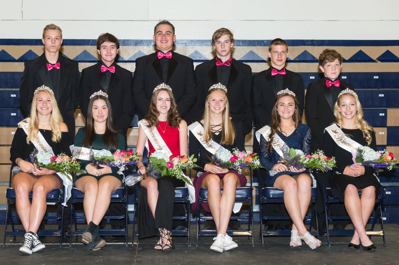 NEWS-TIMES PHOTO: CHRISTOPHER OERTELL - The members of the 2017 Banks High School homecoming court.