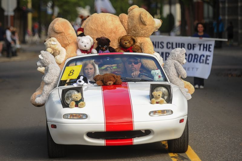 OUTLOOK PHOTO: JOSH KULLA - Floats of all shapes and sizes took part in the Teddy Bear Parade Saturday.