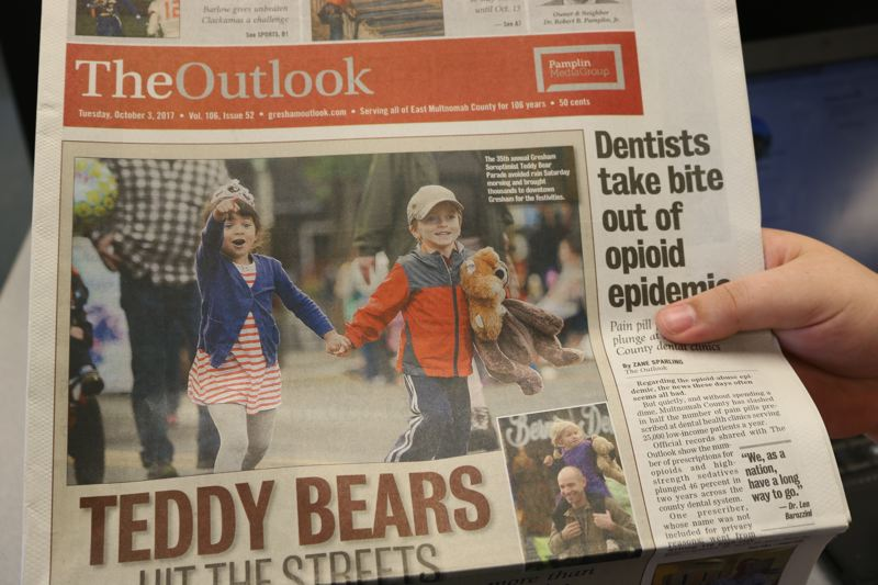 OUTLOOK PHOTO - The Tuesday, Oct. 3, edition of The Outlook.