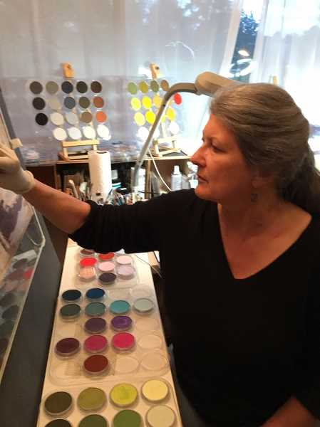 SUBMITTED PHOTO - Wilsonville resident Juliet Franklin, known by her artistic pseudonym JF Warren, first discovered her love of art while working through Betty Edwards book Drawing on the Right Side of the Brain.