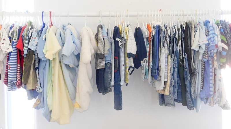 ESTACADA NEWS PHOTO: EMILY LINDSTRAND - Baby clothing is available to clients at the Estacada Pregnancy Resource Center.