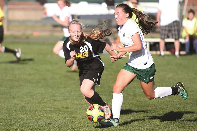 PHIL HAWKINS - North Marion freshman Mya Hammack scored both goals in the Huskies' 2-0 win over Stayton on Thursday and contributed one more against No. 9 Philomath two days prior.
