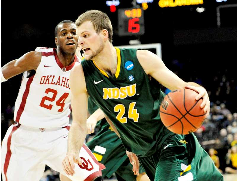 PHOTO COURTESY OF NDSU - Former Newberg High School and North Dakota State University basketball star Taylor Braun signed a training camp deal with the NBA's Utah Jazz, according a team release posted Sept. 26. Most recently, Braun played forRatiopharm Ulm of the German Bundesliga, where he averaged 8.0 points, 3.8 rebounds and 1.6 assists in 53 games (50 starts) during the 2016-2017 season.