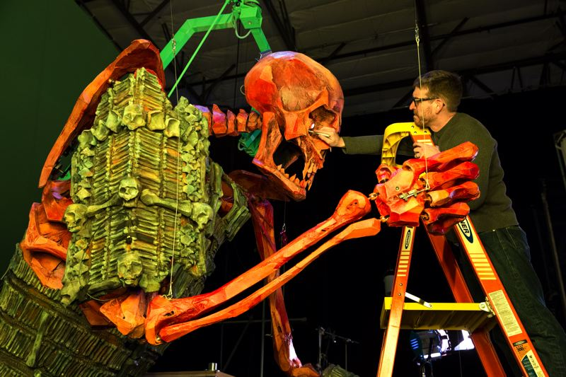 COURTESY: LAIKA/PORTLAND ART MUSEUM - A giant skeleton will greet museum patrons as part of the 'Animating Life' exhibit at Portland Art Museum. The massive 16-foot skeleton puppet was a character in 'Kubo and the Two Strings.'
