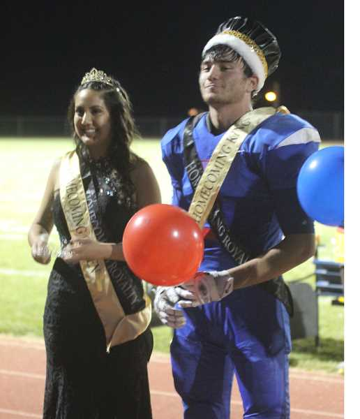 WILL DENNER/MADRAS PIONEER - Xenia Figueroa and Harrison Manu were crowned.