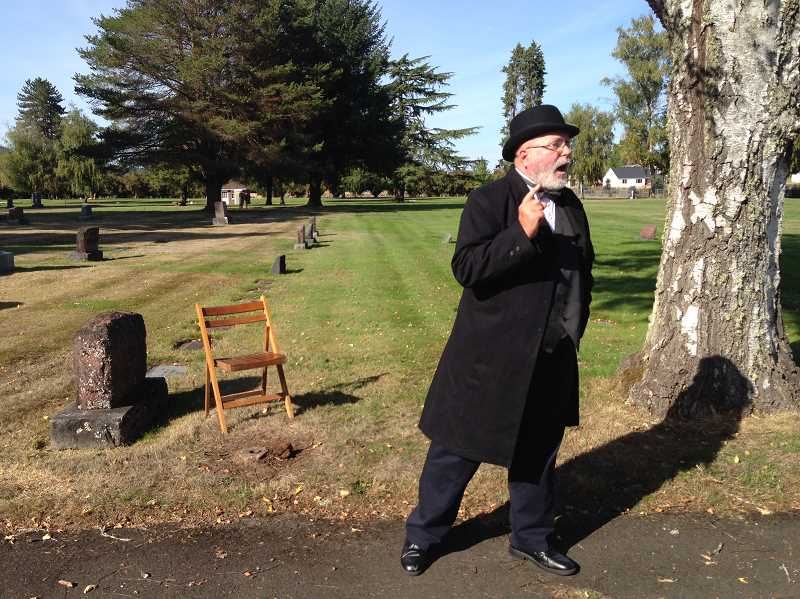 COURTESY PHOTO - Ron Hansen plays Harley S. McDonald in Saturday's 'Grave Matters' tour.