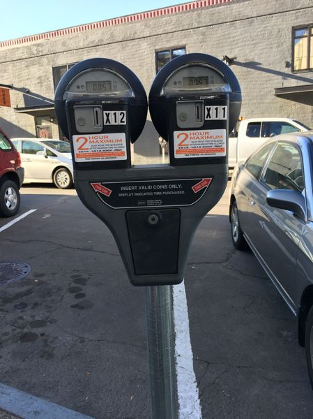 PHOTO COURTESY: OCPD - A working parking meter in downtown Oregon City.