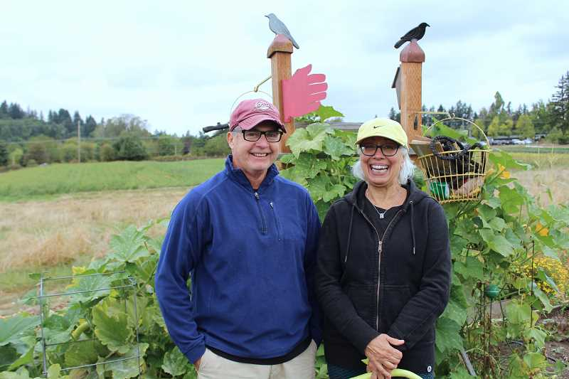 Bruce Griswald and Suzie Regan lease two plots from which they harvest food for their downtown Lake Oswego restaurant, Tucci.