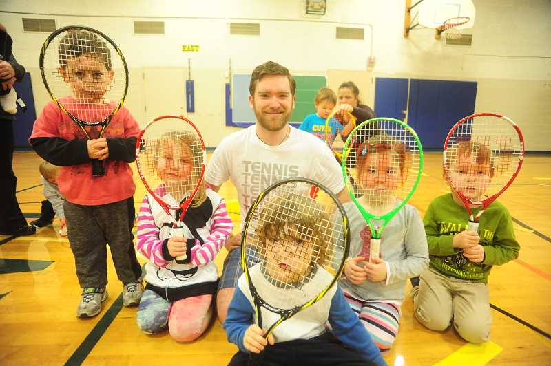 SUBMITTED PHOTO  - The Little Tennis program is offered through Lake Oswego Parks and Recreation to teach preschoolers tennis.