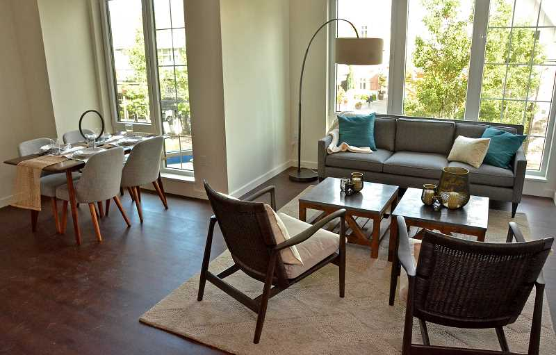 REVIEW PHOTO: VERN UYETAKE - A model apartment has been finished and furnished ahead of the rest in order to give visitors a preview of what the interior of The Windward will look like. This one-bedroom unit overlooks First Street and faces Lake View Village.